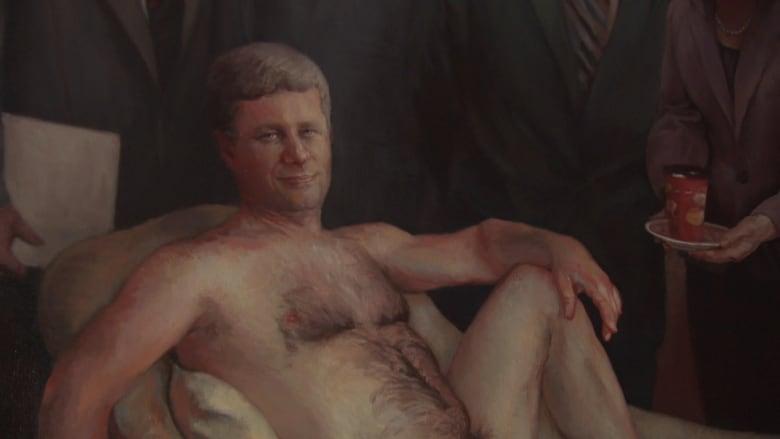 Nude painting of Stephen Harper for sale on Kijiji