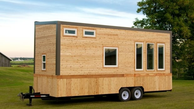 This tiny home has 240 square feet of living space.