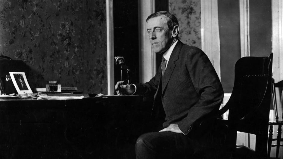 circa 1916:  Woodrow Wilson (1856 - 1924) the 28th President of the United States of America.