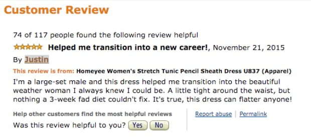 Amazon Review dress