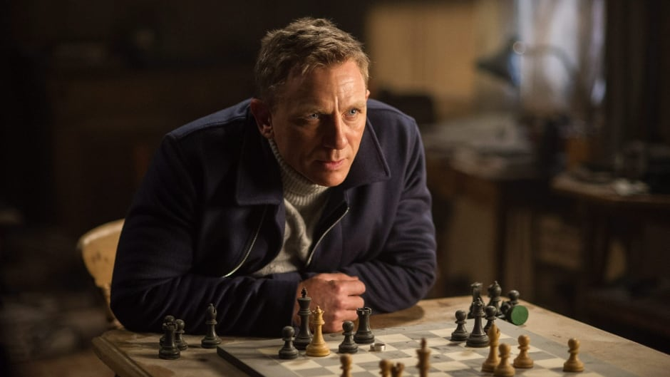 Daniel Craig appears in a scene from the James Bond film Spectre.