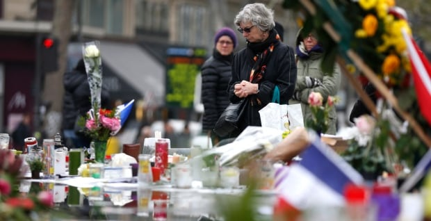 Paris attacks day of tribute Nov 27 2015 Place de la Republique square memorial