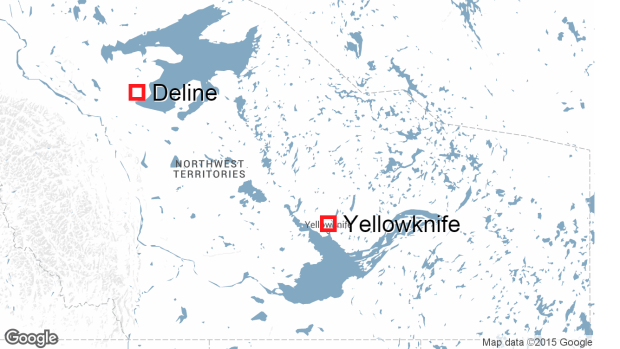 Deline Northwest Territories map