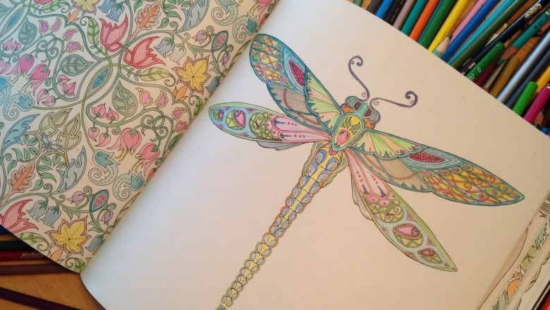 While Childrens Colouring Books Tend To Be Simple Adult Are Filled With Sophisticated And Intricate Illustrations Tara McCarthy CBC