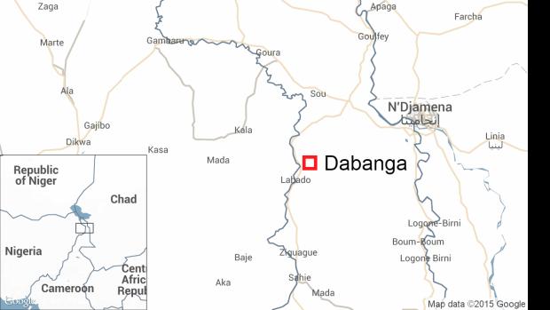Dabanga, Cameroon, map