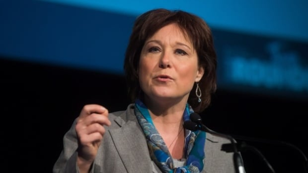 British Columbia Premier Christy Clark speaks at the opening of the Association for Mineral Exploration BC's mineral roundup in Vancouver, B.C., on Monday January 26, 2015.