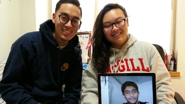 McGill students Keenan Tanaka and Tiffany Leung tutored Mohamad Alahmad, a Syrian refugee in Turkey.