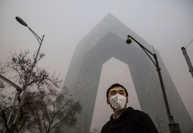Beijing bad air quality Nov 30 2015 CCTV building