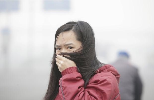 Beijing bad air quality Nov 30 2015 CHINA-SMOG