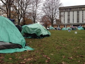 Tent city in Victoria