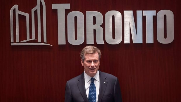 Mayor John Tory is in Los Angeles to boost the city's film, television and digital media industries but a labour dispute continues back home. (Chris Young/The Canadian Press)