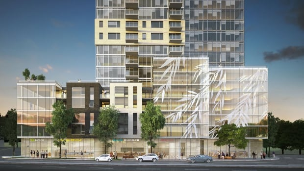 The proposed Willow Tree Tower will sit at the corner of Quinpool Road and Robie Street, just across from the Halifax Common.