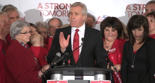 Dwight Ball speaking after winning Newfoundland and Labrador election