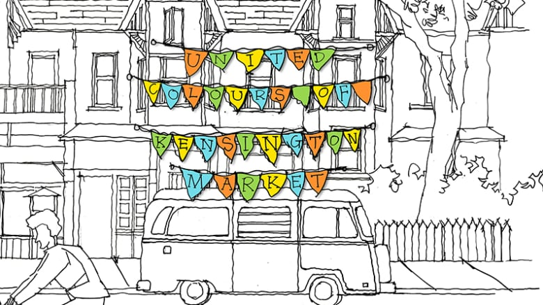 The Cover Of United Colours Kensington A New Adult Colouring Book About Market Neighbourhood
