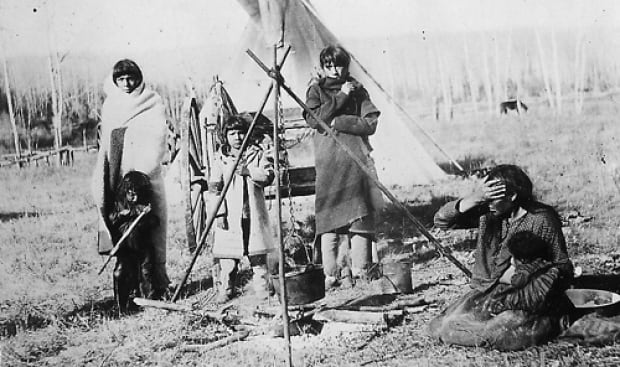 Cree people in central Alberta.