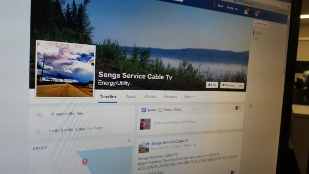 Senga Cable's Jennifer Simons posted the list of customers in arrears on the company's Facebook page, as well as on numerous community Facebook groups. The posts were removed Tuesday following a request from the Office of the Privacy Commissioner of Canada.