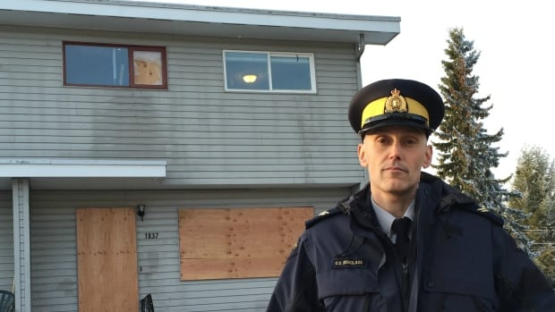 "RCMP Corp. Craig Douglass said the house police have raided twice in Prince George was a ""crack house"" and ""flophouse."""