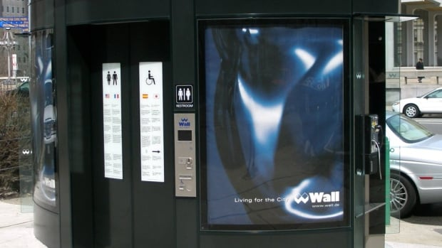 This photo shows a self-cleaning public bathroom in Berlin, Germany. The City of Ottawa is debating whether new light-rail transit stations should have coin-operated public bathrooms.