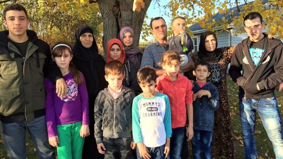 Abdel Malek Al Jassem, Sawsen Mustafa and their family in Bloomfield, Ont.