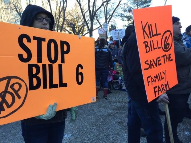 Bill 6 protest