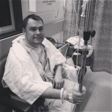 Jesse in hospital