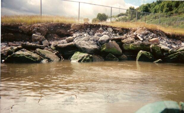 Raw sewage outfall in Corner Brook