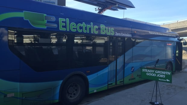 Electric buses, like the one pictured in Winnipeg, are the subject of a feasibility study being done by Thunder Bay city administration.