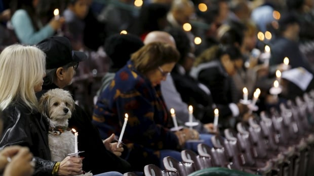 A candlelight vigil in San Bernardino, Calif., for the 14 people killed by a husband and wife team of radicalized Islamists.