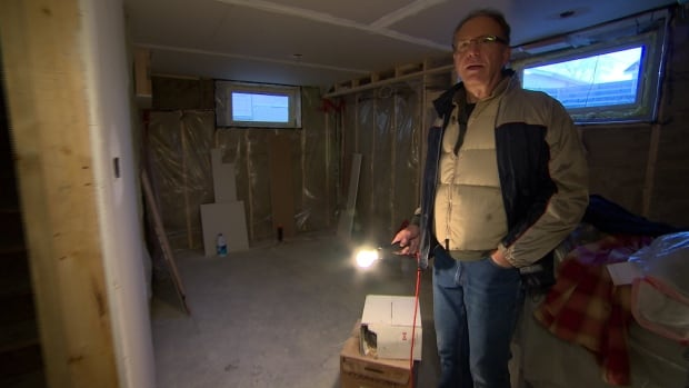 Paul Kroeker shows basement