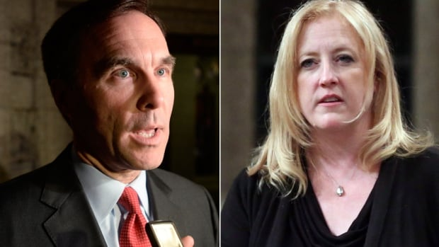 Bill Morneau and Lisa Raitt