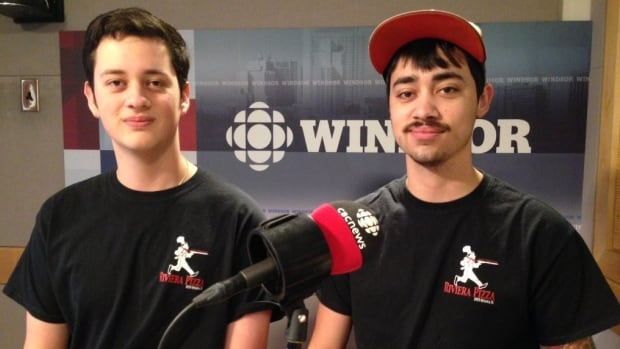 Jacob Dunn (left) and David Dunn became two of the youngest business owners in Windsor when they bought Riviera Pizza restaurant.