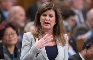 Rona Ambrose reacts to Friday's throne speech