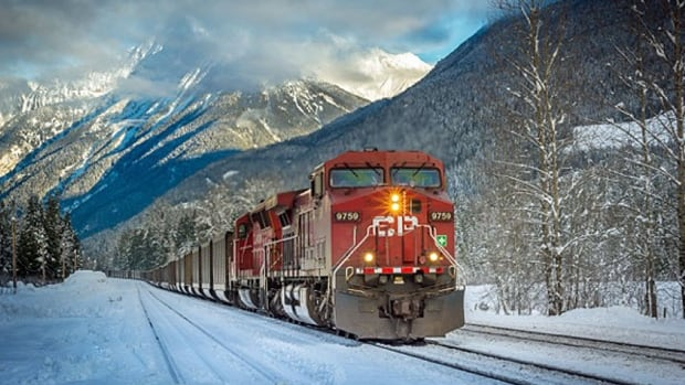 A CP train rolling through Greely Road crossing, the site of the investigation along CP Rail's Mountain Subdivision line about seven kilometres above Revelstoke, B.C.