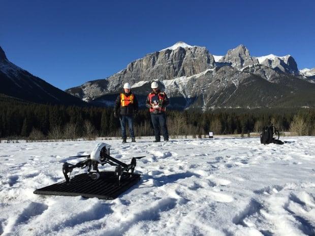 Banff drone