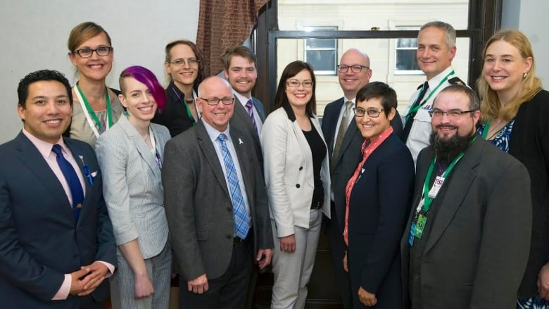 Marni Panas, Justice Minister Kathleen Ganley, MLAs, etc.