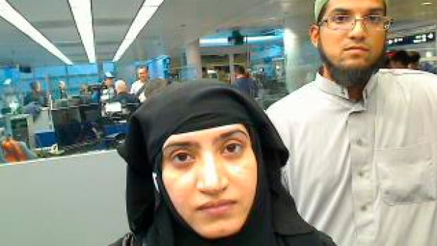 Tashfeen Malik, left, and her husband, Syed Rizwan Farook, right, died in a shootout with police hours after an attack on a holiday party in San Bernardino, Calif., on Wed. Dec. 2, 2015.