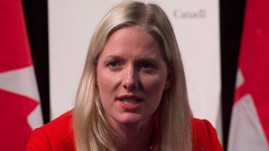 Canadian Minister of Environment and Climate Change Catherine McKenna speaks during a news conference, in Paris, France, on Nov. 29, 2015. McKenna has been named to a group of 14 international ministers who will serve as facilitators of the COP21 climate conference in Paris.