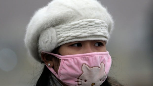 A woman wears a mask to protect herself from pollutants near Tiananmen Gate in Beijing on Dec. 1, 2015. Episodes of nauseating smog lasting several days has become part of winter time in Beijing.