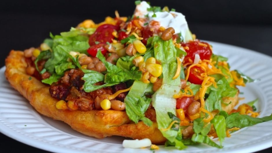 Feast Café Bistro in Winnipeg serves up Indian tacos, and owner Christa Guenther says she thinks they are a traditional Indigenous food.