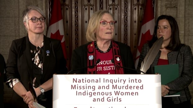 Indigenous Affairs Minister Carolyn Bennett announced the first steps for her government's promised inquiry into missing and murdered indigenous women in Ottawa on Dec. 8. Bennett will visit Yellowknife on Friday and Whitehorse on Jan. 11 to speak to families affected.