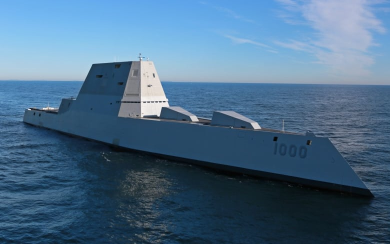 U.S. Navy tests Zumwalt-class guided missile destroyers