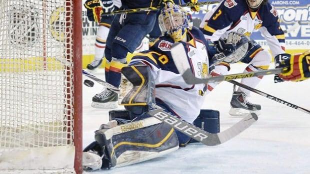 Barrie Colts goalie Mackenzie Blackwood is a New Jersey Devils draft pick.