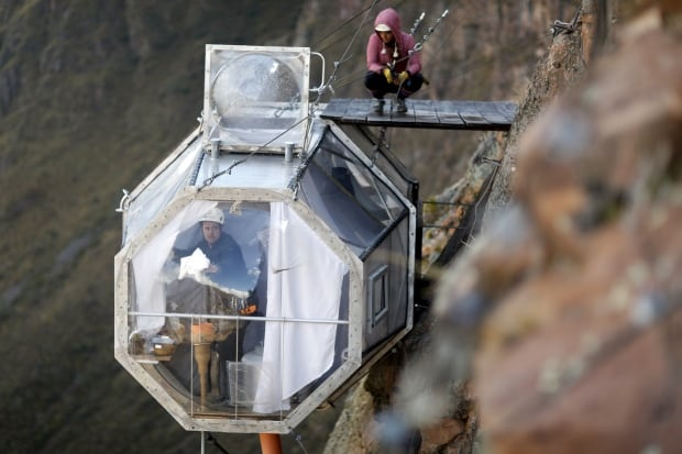 Zip Line Harness >> Peru's Skylodge pods next best thing to a night in a condor nest - World - CBC News