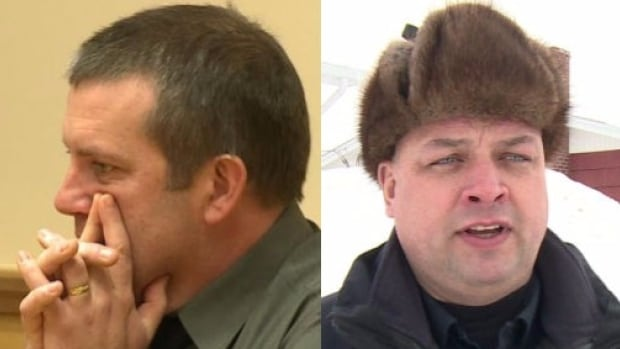 The Royal Newfoundland Constabulary's investigation into suspended Const. Sean Kelly (left) has been the subject of three external reviews, after a Corner Brook judge questioned a phone call between Kelly and Sgt. Tim Buckle (right).
