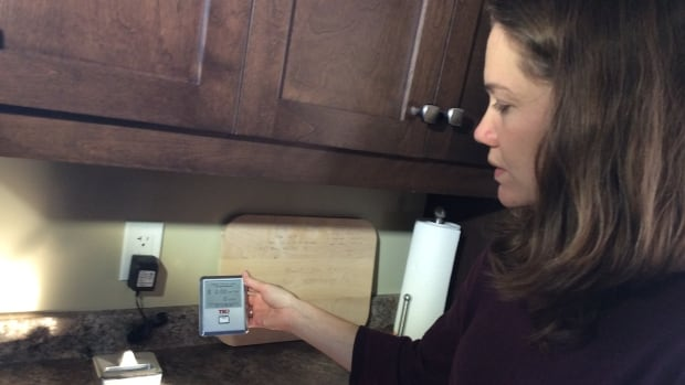 Beth Peters is able to get real-time energy data from the home.
