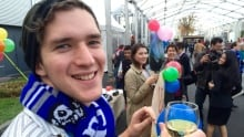 COP21 celebration retiring fossil fuels