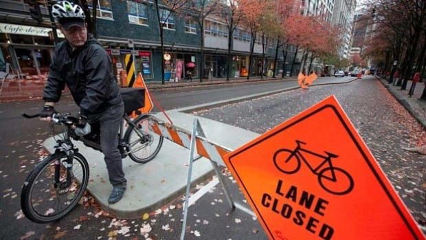 The city of Vancouver has approved 12 new bike lanes.