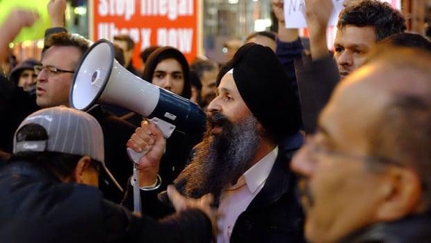 Toronto Taxi Anti-Uber protest