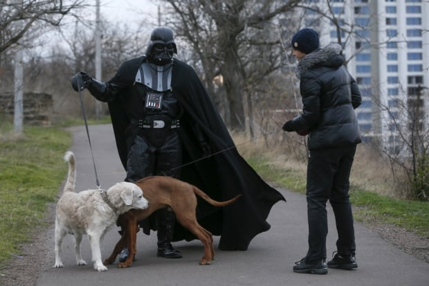 Darth Mykolaiovych Vader Ukraine Star Wars Dec 2015 likes dogs