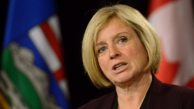 "Alberta Premier Rachel Notley described recent threats against her as the ""regrettable actions"" of ""a very small group of people ... who took their opposition too far."""